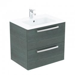 Ideal Standard – Lavabo sur meuble - Eurovit Plus K2979SG coloris chêne gris, 610x450 mm