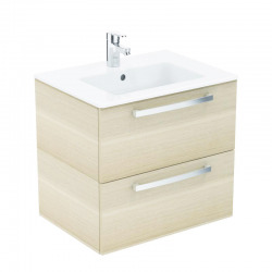 Ideal Standard – Lavabo + meuble - Tempo K2979OS coloris chêne clair, 61x56,5x45cm