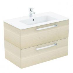 Ideal Standard – Lavabo + meuble – Tempo K2978OS coloris chêne sablé, 81,5 x 45 x 56,5 cm