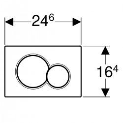 Plaque de déclenchement Geberit Sigma01, Noir foncé (115.770.DW.5)