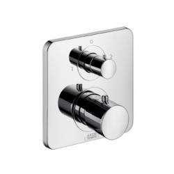 Set de finition pour mitigeur thermostatique encastré avec robinet d'arrêt/inverseur