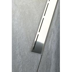 Caniveau de douche plastique avec grille inox Sapho ROAD 720x123x68 (SAP-71673)