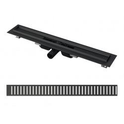 Caniveau de douche + grille noir 950 (Alcasetblack2)