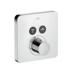 Set de finition pour mitigeur thermostatique ShowerSelect SoftCube encastré avec 2 sorties