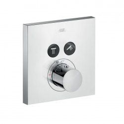 Set de finition pour mitigeur thermostatique ShowerSelect Square encastré avec 2 sorties