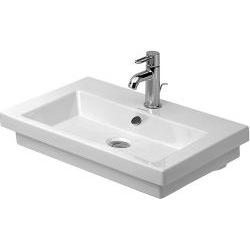2nd floor Lavabo, lavabo pour meuble avec trop-plein, avec plage de robinetterie, cache trop-plein chromé inclus, 800 mm