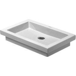 2nd floor Vasque à poser meulé, sans trop-plein, sans plage de robinetterie, 580 mm x 415 mm