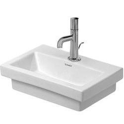2nd floor Lave-mains meulé sans trop-plein, avec plage de robinetterie, 400 mm x 300 mm