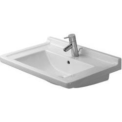 Starck 3 Lavabo, lavabo pour meuble avec plage de robinetterie, 700 mm, Design by Philippe Starck