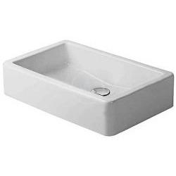 Vero Vasque à poser meulé, sans trop-plein, sans plage de robinetterie, fixations incluses, 600 mm