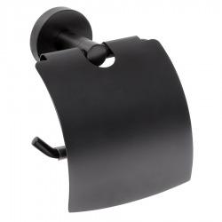 Dérouleur papier toilette DARK en laiton noir 14x9,5x9cm (XB702)