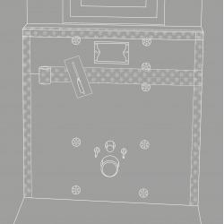 Set de montage pour habillage de toilette susp. (4508472)
