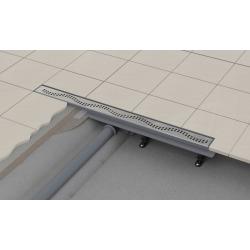 Caniveau de douche simple pour grilles perforées 85 x 14,5 x 8 cm (CPZ8-850M)