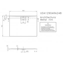Receveur Architectura Metalrim, 120 x 90, blanc, adherence elevee / classe B / PN18, 1,5