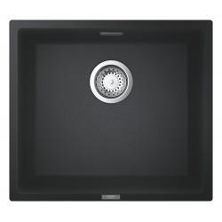 Grohe K700 Evier sous-plan 417 x 366mm + Vidage, siphon, bonde inclus, Quartz Noir Granite (31653AP0)