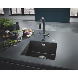 Grohe K700 Evier de Cuisine à encastrer par dessous Quartz Noir Granite 457 x 406 (31653AP0)