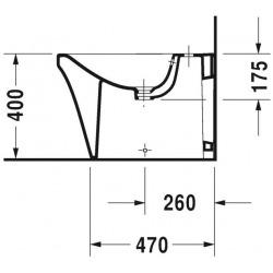 P3 Comforts Bidet sur pied, 380 mm x 600 mm, blanc