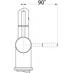 Mitigeur monocommande d'évier FN 0143.031, chromé (115.0154.303)
