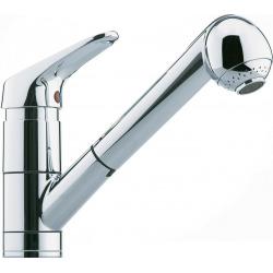 Franke robinet mitigeur 160 chrome, avec douchette extractible, haute pression, pour installation devant une fenêtre FG 4510.031