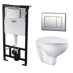 Set WC suspendu Bau Ceramic sans bride tout en un (Alcagrohe1)