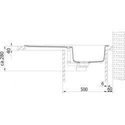 Kit de cuisine G84, Évier en granit STG 614, pierre grise + Mitigeur FG 1839, chromé (114.0365.812)