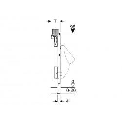 Bâti-support Duofix pour urinoir, 98 cm, universel, pour déclenchement par le dessus (111.617.00.1)