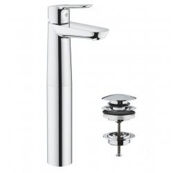 Grohe StartEdge set mitigeur monocommande pour lavabo Taille XL + bonde clic-clac Grohe (23777000)