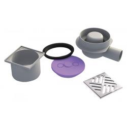 siphon horizontal pour receveurs à carreler domoboard by Jackon (4503077)