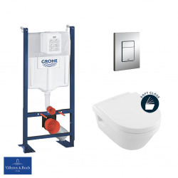 Pack WC Rapid SL autoportant + cuvette Villeroy&Boch Architectura + plaque Skate Cosmo chrome (ProjectArchitectura-1)