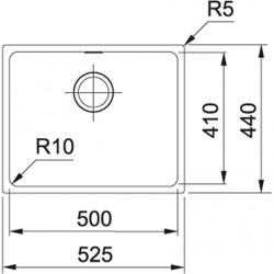 Sirius - SID 110-50 Tectonite® Blanc Artic Evier (125.0363.788)