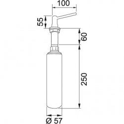 Distributeur de détergent, 500 ml, chromé