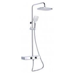 colonne de douche avec mitigeur thermostatique blanc / chrome (SATSSTHP)