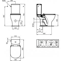 Tesi aquablade pack wc à poser tout en un (T033601)