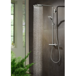 Raindance Select S Colonne de douche 240 1jet PowderRain avec mitigeur thermostatique bronze brossé (27633140)