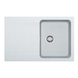 Orion - OID 611-78 Tectonite® Blanc Artic Evier à encastrer, 780mmx500mm