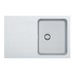 Franke Orion - OID 611-78 Tectonite® Blanc Artic Evier à encastrer, 780mmx500mm