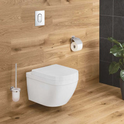 Euro Ceramic Cuvette WC suspendue, blanc alpin + abattant (39328000+39330001)