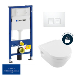 / Villeroy & Boch pack bâti-support UP100 + plaque Delta50 + cuvette Architectura + abattant softclose (ArchitecturaGeberit1)