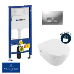 / Villeroy & Boch pack bâti-support UP100 + plaque Delta50 + cuvette Architectura + abattant softclose (ArchitecturaGeberit1)