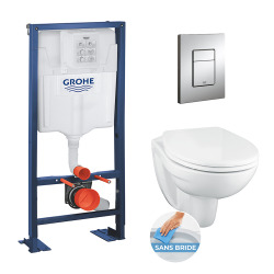 pack WC rapid sl autoportant avec cuvette rimless Bau Ceramic (AutoportantBau1)
