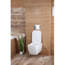 WC suspendu Havana sans bride avec fixations cachées + abattant ultra-fin soft close (HavanaRimless)