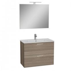 Meuble salle de bain avec lavabo miroir et éclairage Led Vitra Mia 79x61x39,5 cm, cordoba (MIASET80C)