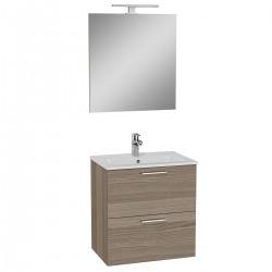 Meuble de salle de bain avec lavabo miroir et éclairage Vitra Mia 59x61x39,5 cm, cordoba (MIASET60C)
