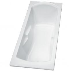 Baignoire à poser ou encastrer Ulysse 160 x 70 cm, blanc brillant (P106301)