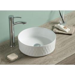 Vasque à poser Infinitio 36 x 36 x 12 cm sans trop-plein, blanc (SATINF3636)