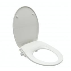 Abattant WC japonais, siège de toilette Softclose sans électricité avec bidet intégré, blanc (SATBEASY2233)