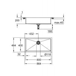 K700 Évier en acier inoxydable, Inox (31580SD1)