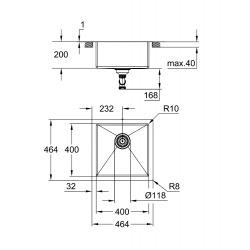 K700 Évier en acier inoxydable, Inox (31578SD1)