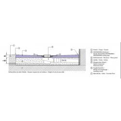 Receveur à carreler carré Aqua Décentré 100x100 avec siphon vertical (4504270+4504180)