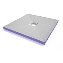 Receveur à carreler carré Aqua centré 100x100 avec siphon horizontal (4504166+4504179)
